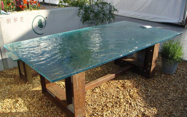 Wholesale texture glass coffee table top