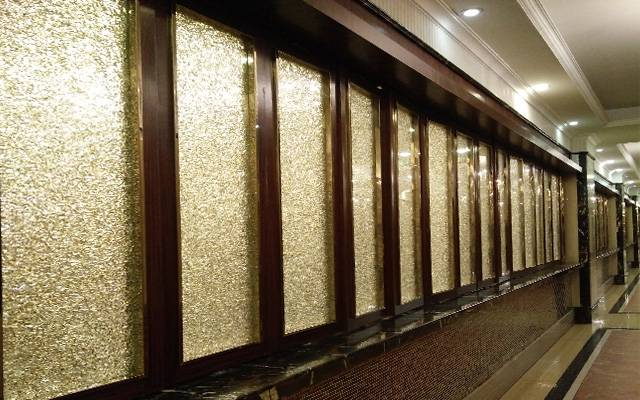 Glittering Corridor glass partition wall