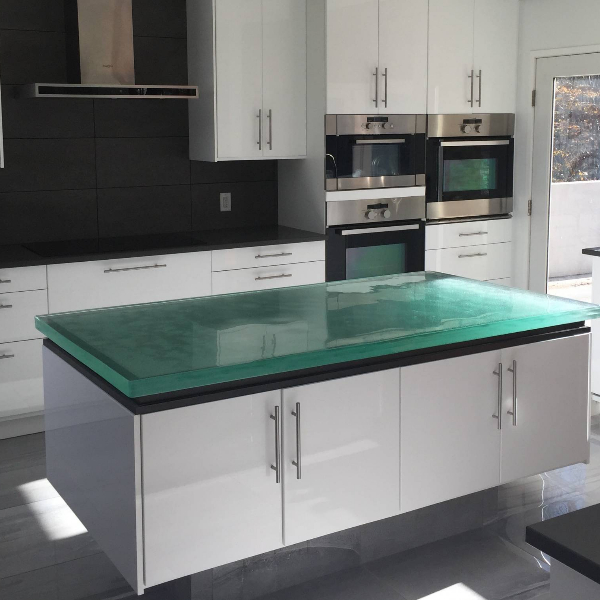 Hot Selling 50mm thickness Kitchen Glass Countertop