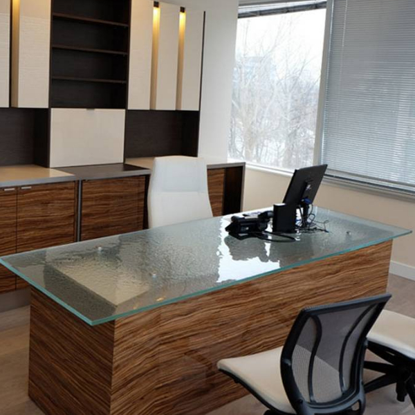 15mm thickness Office Glass Worktop