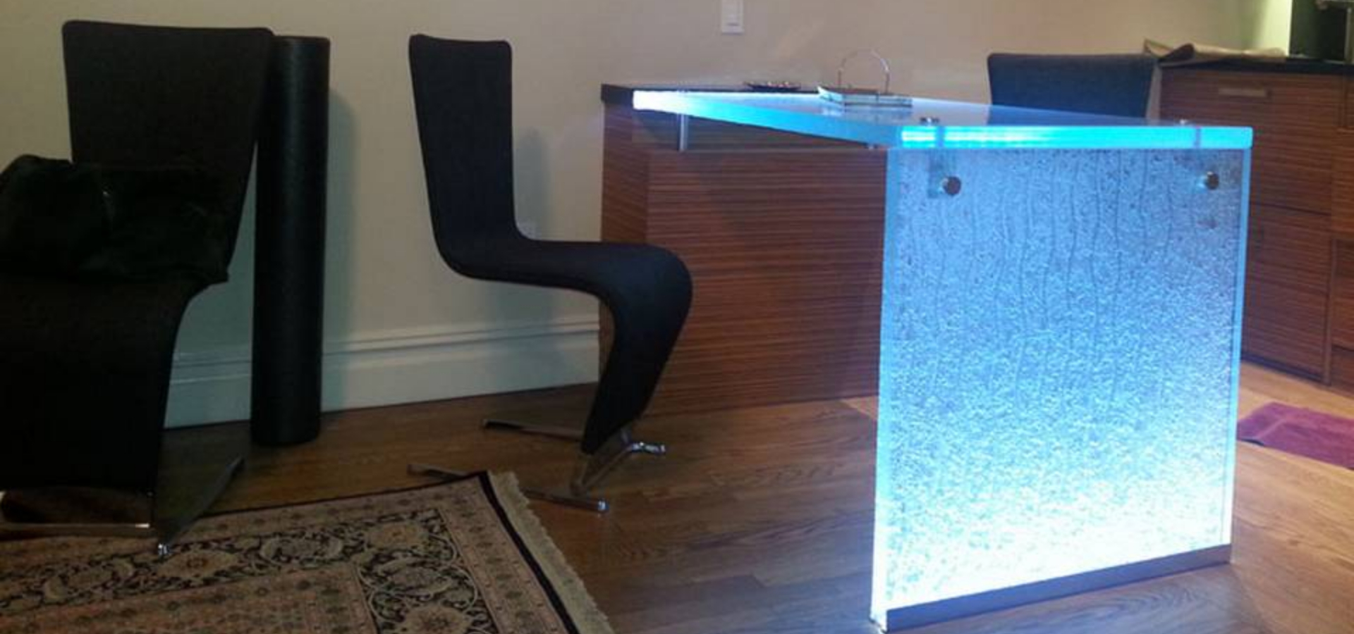 LED Lighting Wholesale Glass Desk