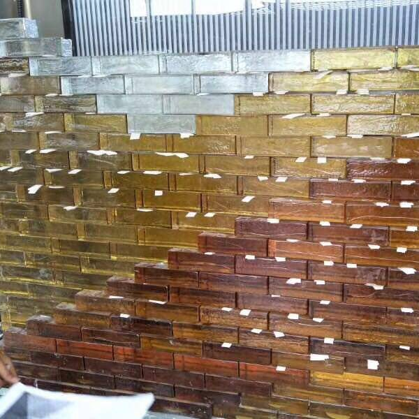 Color Solid Glass Blocks For wall