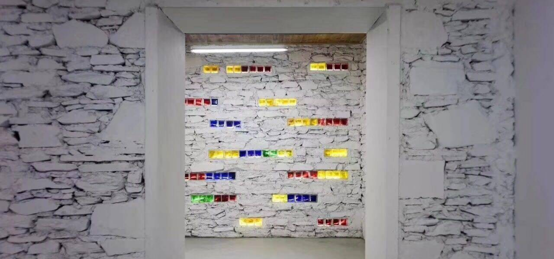 Colorful solid glass brick for Wall