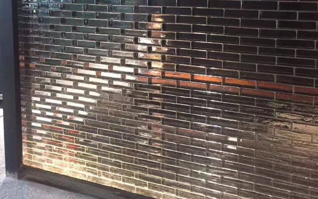 Inddor solid glass bricks for partition