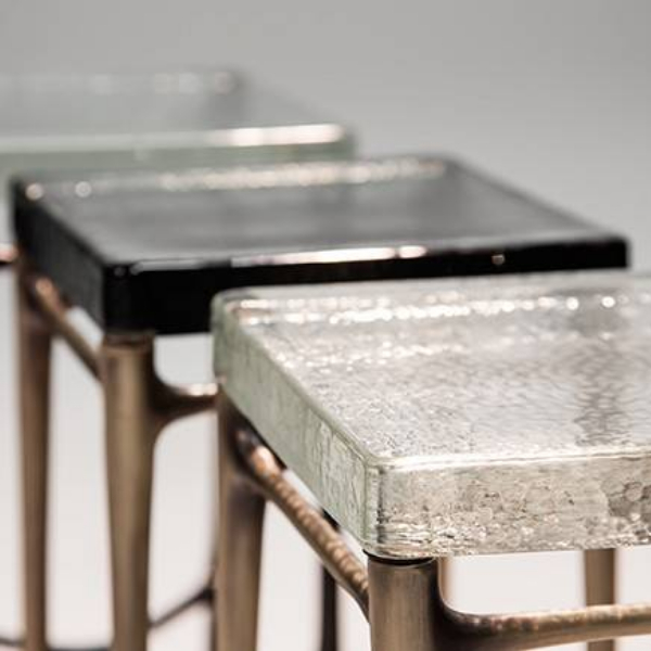 35mm crystal glass end table