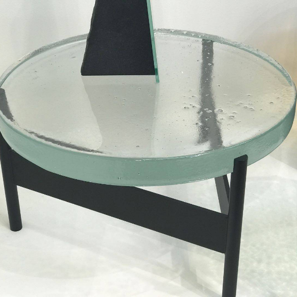 crystal glass small table