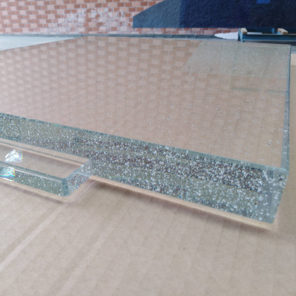crystal glass for counter top with bubbles