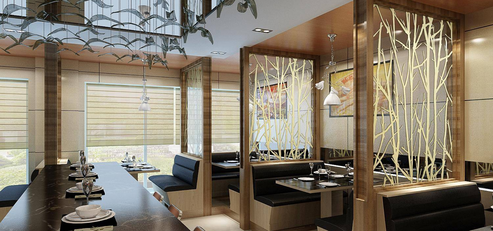 Golden color clear tempered laminated glass