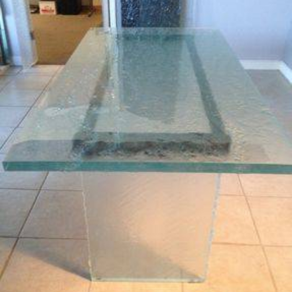 Clear hot melt glass counter for home
