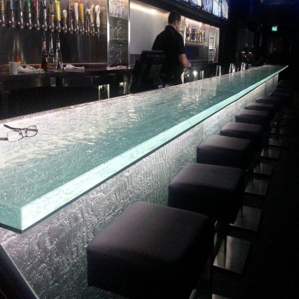 Natural textured bar glass
