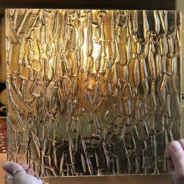 Decorative tempered fusion glass